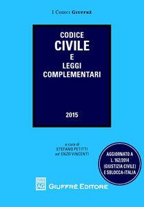 Foto Cover di Codice civile e leggi complementari, Libro di  edito da Giuffrè
