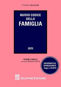 Nuovo codice della famiglia. Schemi e tabelle