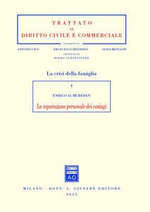 Libro La separazione personale dei coniugi Enrico Al-Mureden