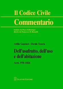 Premioquesti.it Dell'usufrutto, dell'uso e dell'abitazione. Artt. 978-1026 Image