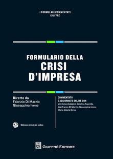 Formulario della crisi d'impresa - copertina