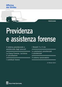 Libro Previdenza e assistenza forense Alessia Vanni