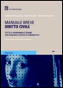 Libro Diritto civile. Manuale breve Massimiliano Balloriani , Salvatore Mezzanotte , Roberto De Rosa