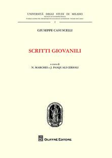 Scritti giovanili - Giuseppe Casuscelli - copertina