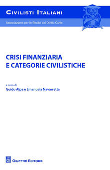 Crisi finanziaria e categorie civilistiche - copertina