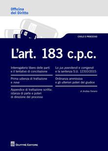 L' art. 183 c.p.c. - Andrea Ferrario - copertina