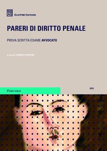 Pareri di diritto penale 2015 - copertina