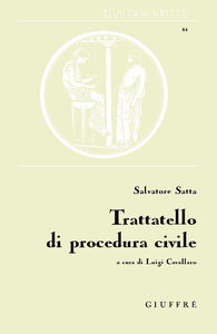 Libro Trattatello di procedura civile Salvatore Satta