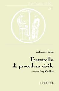 Libro Trattatello di procedura civile Salvatore Satta