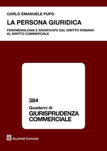 Libro La persona giuridica Carlo E. Pupo
