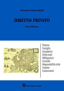 Diritto privato - Vincenzo Franceschelli - copertina