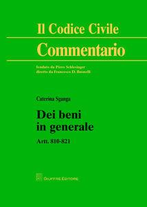 Libro Dei beni in generale. Artt. 810-821 Caterina Sganga