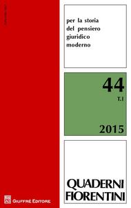Libro Quaderni fiorentini per la storia del pensiero giuridico moderno. Vol. 44