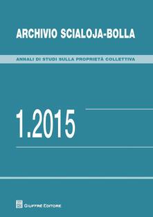Archivio Scialoja-Bolla (2015). Vol. 1 - copertina