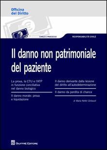 Il danno non patrimoniale del paziente - M. Nefeli Gribaudi - copertina