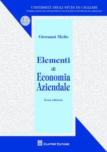 Elementi di economia aziendale - Giovanni Melis - copertina