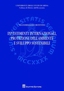 Libro Investimenti internazionali, protezione dell'ambiente e sviluppo sostenibile Massimiliano Montini