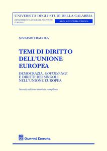 Libro Temi di diritto dell'Unione europea Massimo Fragola