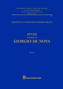 Studi in onore di Giorgio De Nova