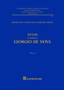 Libro Studi in onore di Giorgio De Nova Giorgio De Nova