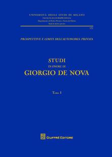 Studi in onore di Giorgio De Nova - Giorgio De Nova - copertina