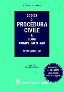 Foto Cover di Codice di procedura civile e leggi complementari, Libro di  edito da Giuffrè