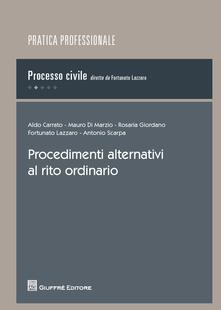 Procedimenti alternativi al rito ordinario - copertina