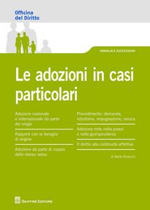 Libro Le adozioni in casi particolari Marta Rovacchi