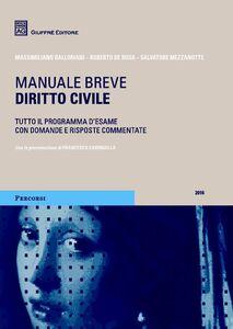 Libro Diritto civile. Manuale breve Salvatore Mezzanotte , Roberto De Rosa , Massimiliano Balloriani