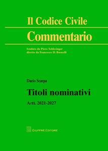 Libro Titoli nominativi. Artt. 2021-2027 Dario Scarpa