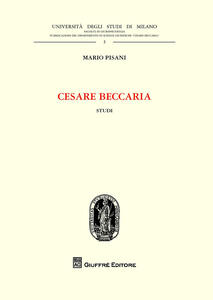 Cesare Beccaria. Studi