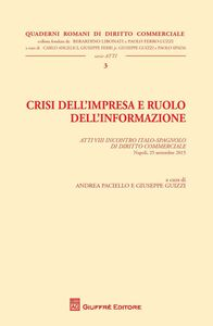 Libro Crisi dell'impresa e ruolo dell'informazione. Atti del Convegno