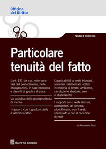 Libro Particolare tenuità del fatto Alessandro Trinci