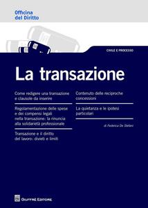 Libro La transazione Federica De Stefani