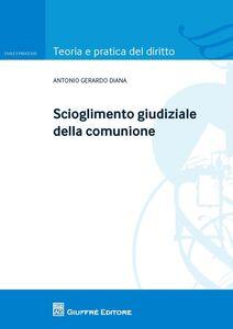 Libro Scioglimento giudiziale della comunione Antonio Gerardo Diana