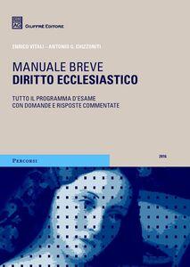 Libro Diritto ecclesiastico Enrico Vitali , Antonio G. Chizzoniti