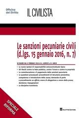 Le sanzioni pecuniarie civili (D.lgs.15 gennaio 2016, n.7)