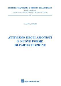 Libro Attivismo degli azionisti e nuove forme di partecipazione Claudia Sandei