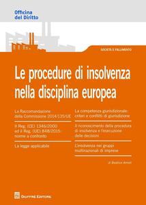 Le procedure di insolvenza nella disciplina europea