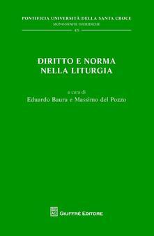 Diritto e norma nella liturgia - copertina