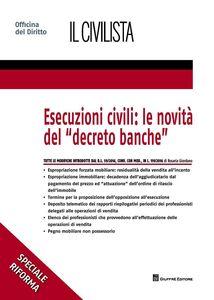 Libro Esecuzioni civili: le novità del «decreto banche» Rosaria Giordano