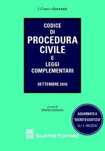 Libro Codice di procedura civile e leggi complementari