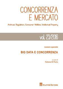 Concorrenza e mercato. Antitrust, regulation, consumer welfare, intellectual property - copertina
