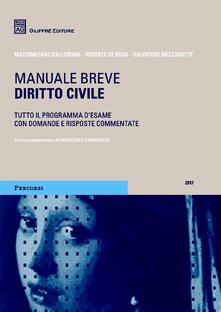 Diritto civile. Manuale breve - Salvatore Mezzanotte,Roberto De Rosa,Massimiliano Balloriani - copertina