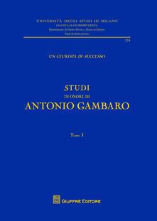 Un giurista di successo - Antonio Gambaro - copertina