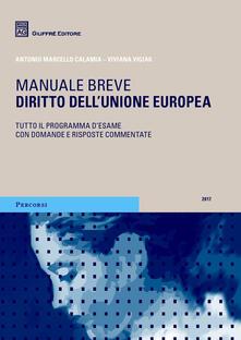 Diritto dell'Unione europea. Manuale breve. Tutto il programma d'esame con domande e risposte commentate - Antonio Marcello Calamia,Viviana Vigiak - copertina