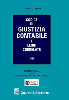 Codice di giustizia contabile e leggi correlate - copertina