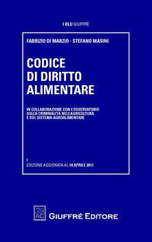 Codice di diritto alimentare - copertina