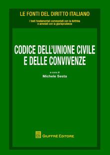 Codice della unioni civili e delle convivenze - copertina
