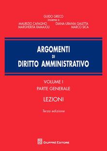 Argomenti di diritto amministrativo. Vol. 1: Parte generale. Lezioni..pdf